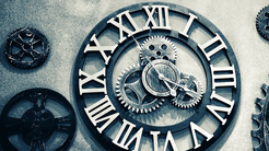 Clock and cogs - to represent Standing Order payment