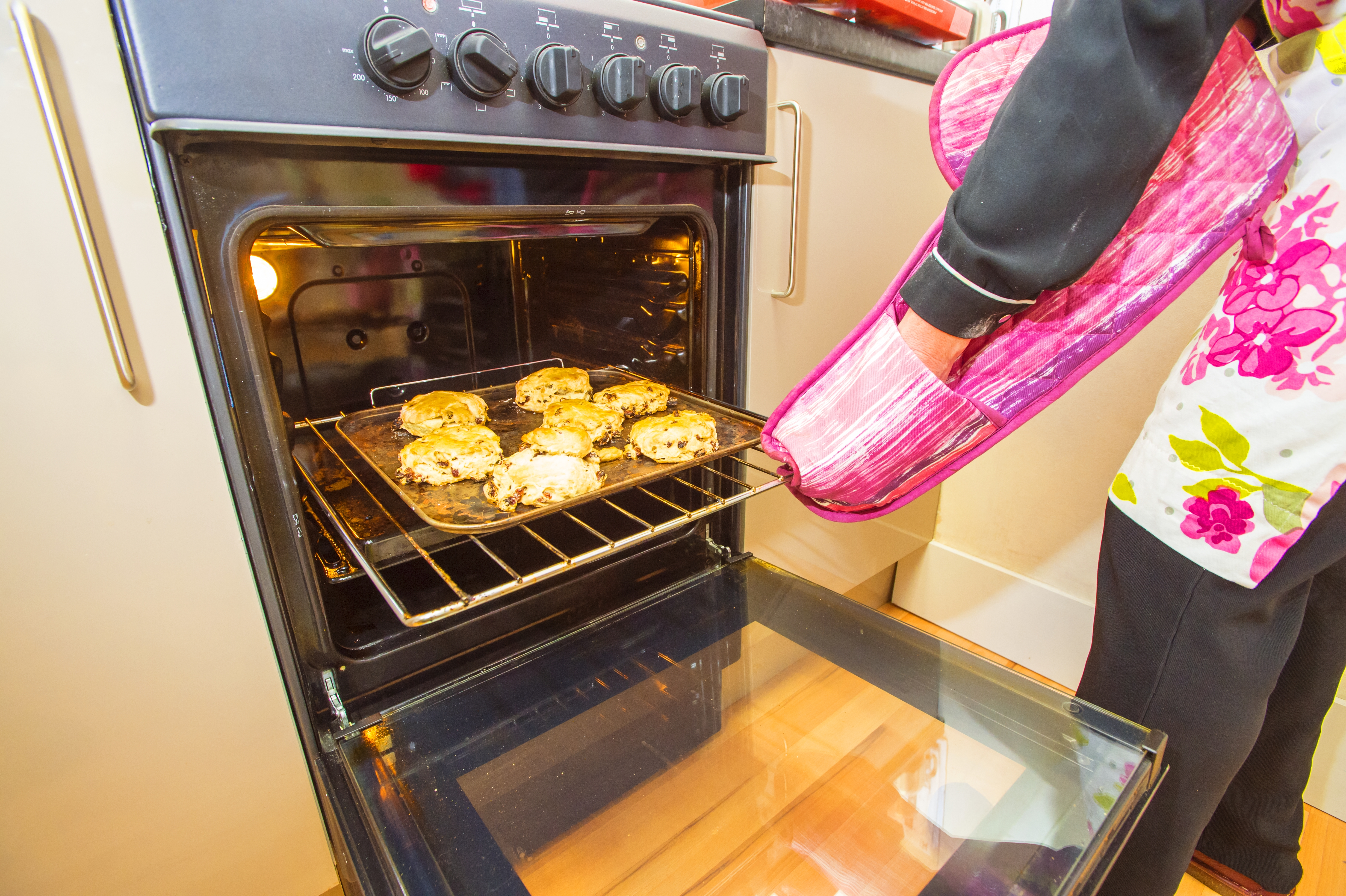 Scones fresh from the oven to help raise funds for UK veterans - copyright Rob Leyland