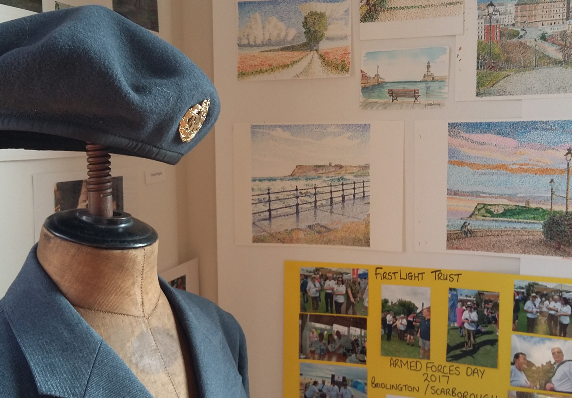 Scarborough Art Gallery exhibition by FirstLight Trust veterans