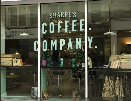 Lancaster Sharpe's coffee exterior