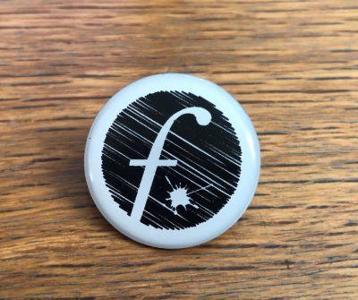 Pin Badge – white